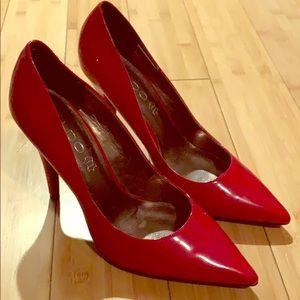 Women's red heels size 8